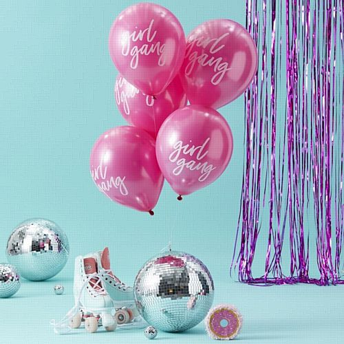 Pink Girl Gang Balloons - Good Vibes - Pack of 10