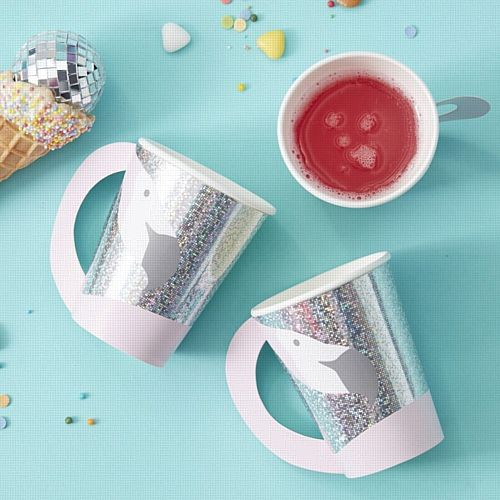 Flamingo Shaped Paper Cups - Good Vibes - Pack of 8