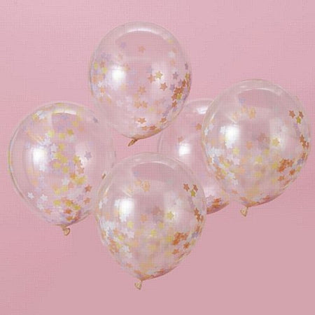 Click to view product details and reviews for Star Confetti Balloons Make A Wish Pack Of 5.