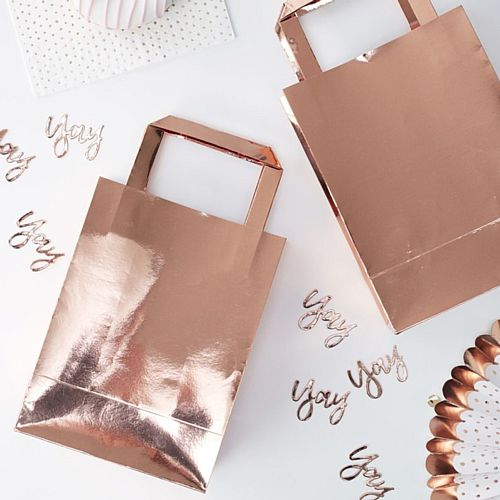 Rose Gold Party Bags - Pack of 5