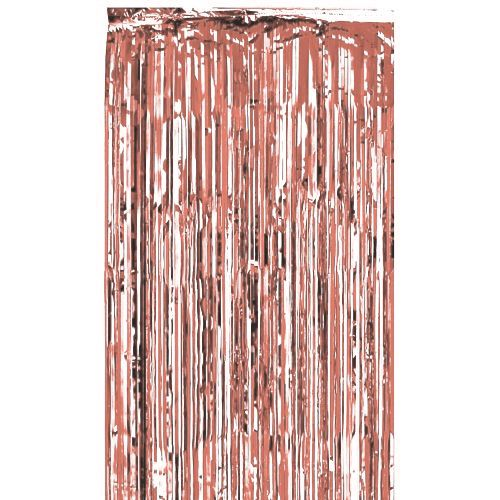 Rose Gold Shimmer Curtain - Flame Retardant - 2.4m