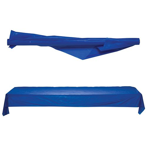Blue Plastic Table Roll - Jumbo - 1m x 76m