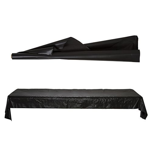 Jumbo Black Table Roll - 1m x 76m