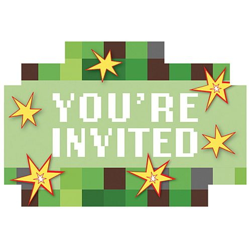 TNT Party! Postcard Invitations- Pack of 8