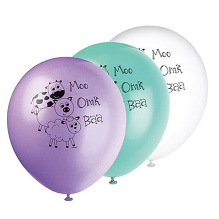 Farmyard Party Latex Balloon 30cm Pack Of 5