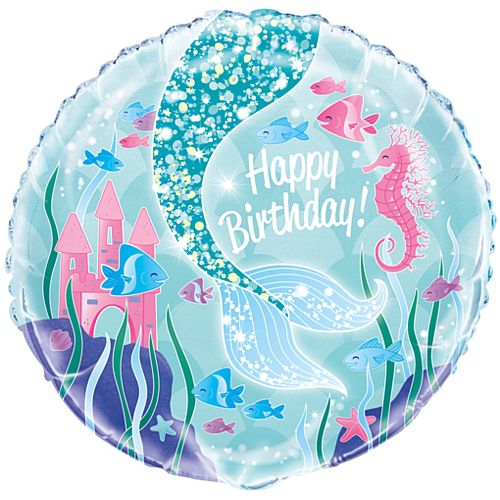Mermaid Foil Balloon - 46cm