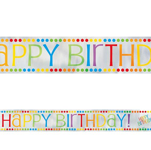Rainbow Birthday Foil Banner - 3.7m
