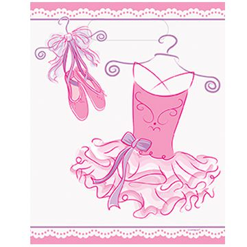 Pink Ballerina Party Bags - Pack of 8