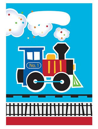 Toy Train Party Bags - Pack of 8
