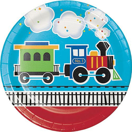 Toy Train Plates - 23cm - Pack of 8