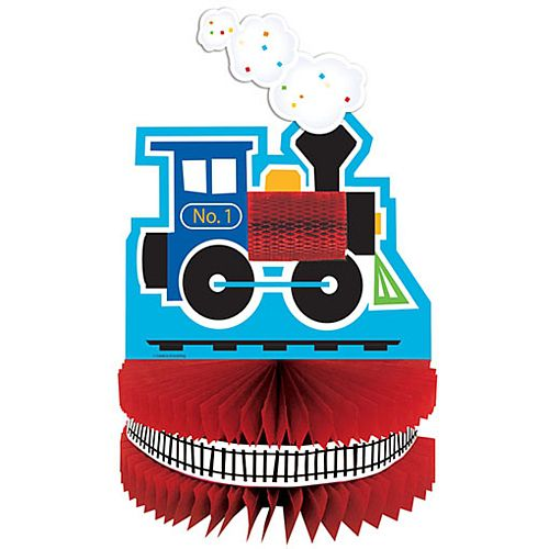 Toy Train Honeycomb Centrepiece