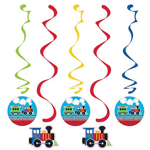 Toy Train Dizzy Danglers - Pack of 5