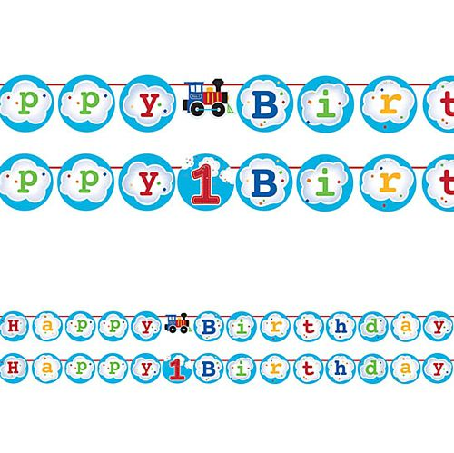 Toy Train Bunting with Interchangable Centre- 2.1m
