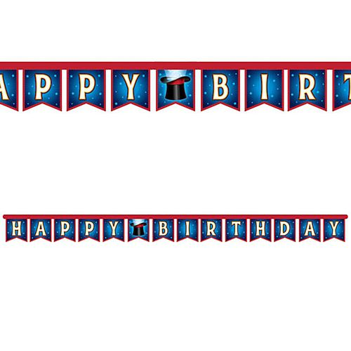Magic Happy Birthday Jointed Letter Banner Bunting - 2.2m