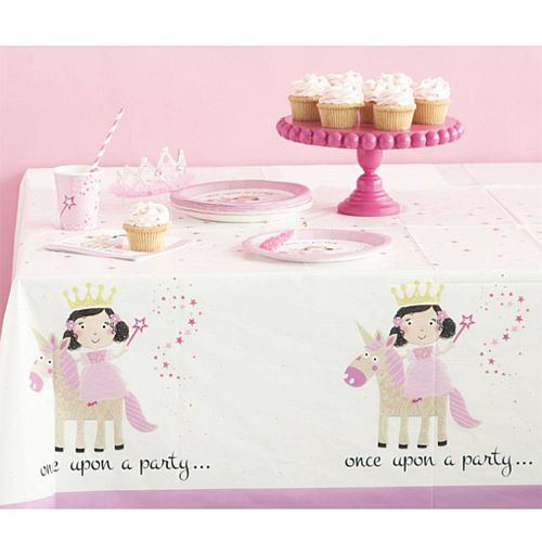 Unicorn Princess Plastic Tablecloth - 137cm x 213cm