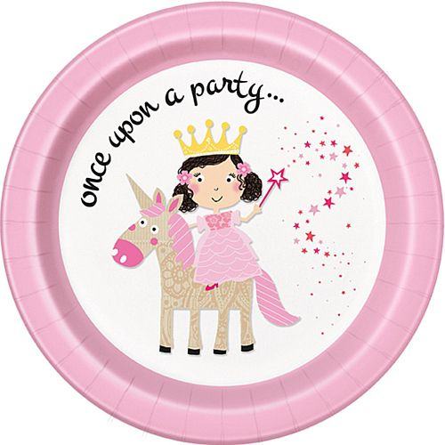Unicorn Princess Plates - 23cm - Pack of 8