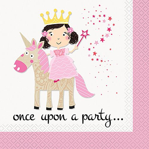 Unicorn Princess Napkins - Pack of 16