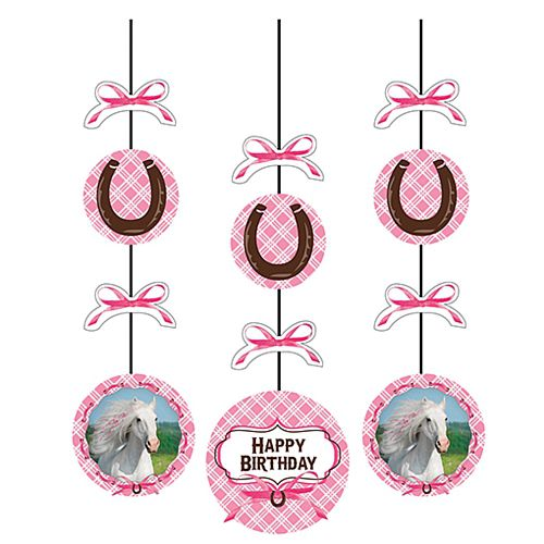 Pony Lover Hanging Cutout Decorations - Pack of 3