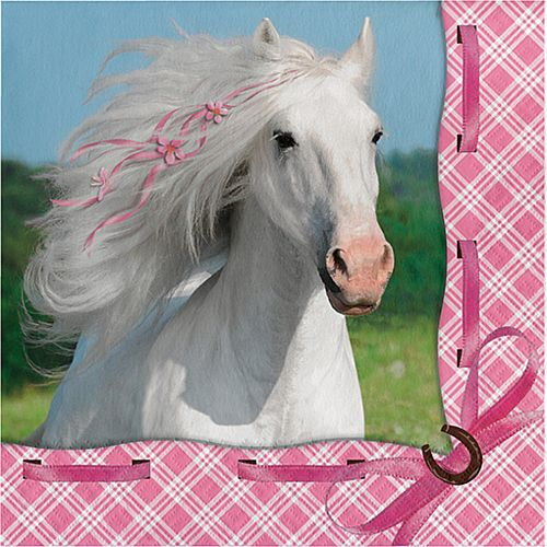 Pony Lover Napkins - 33cm - Pack of 8