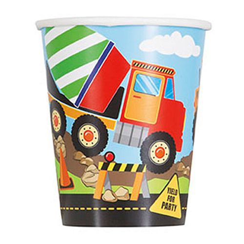Trucks and Diggers Cups - 256ml - Pack of 8