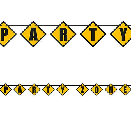 Trucks and Diggers Party Zone Bunting