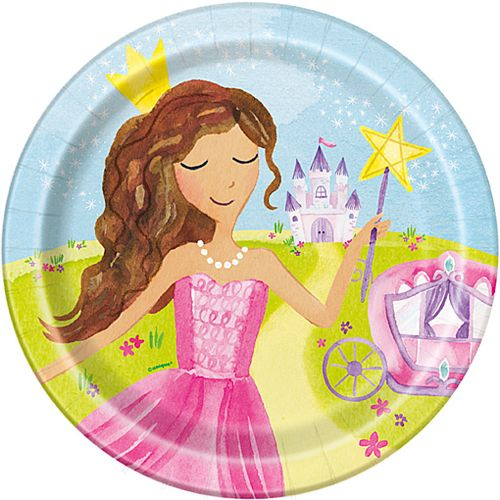 Magical Princess Plates - 23cm - Pack of 8