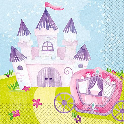Magical Princess Napkins - Pack of 16