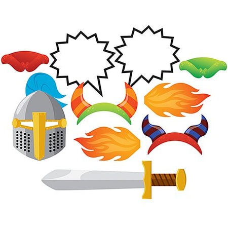 Dragon Fire Photo Booth Props - Pack of 10