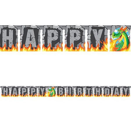 Dragon Fire Jointed Letter Banner Bunting - 3m