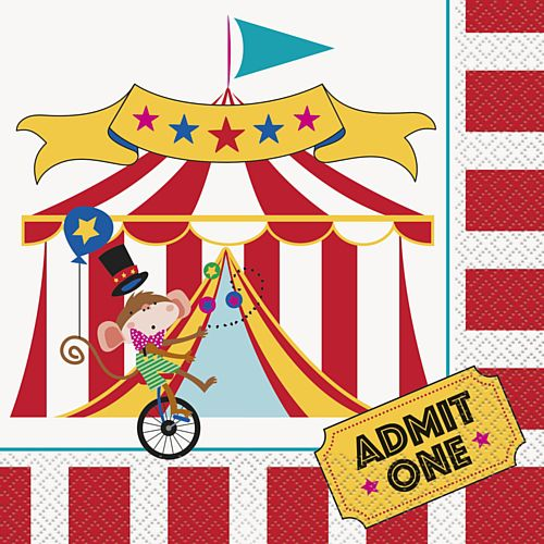 Circus Carnival Napkins - Pack of 16
