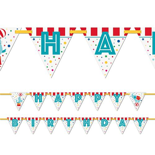 Circus Carnival Happy Birthday Flag Bunting