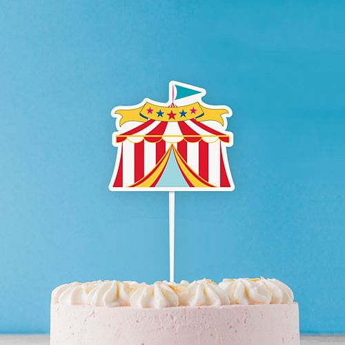 Circus Carnival Tent Cake Topper - 20cm