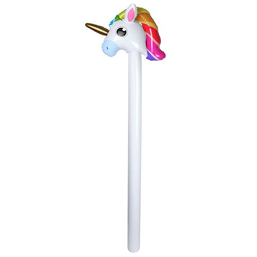 Inflatable Unicorn Hobby Horse - 1.10m