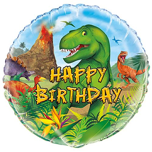 Dinosaur Happy Birthday Foil Balloon - 46cm