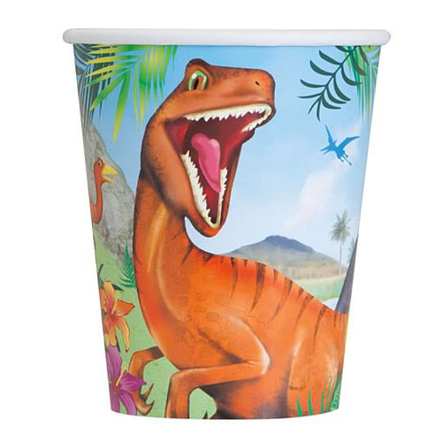 Dinosaur Cups - 256ml - Pack of 8