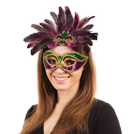 Carnival mask - Purple, Green and Gold