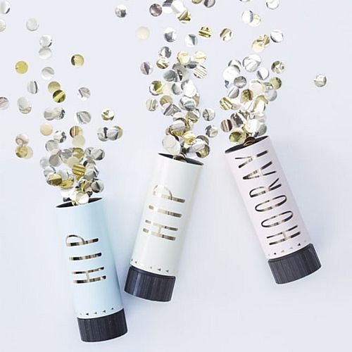 Hip Hip Hooray Confetti Cannons - Pack of 3