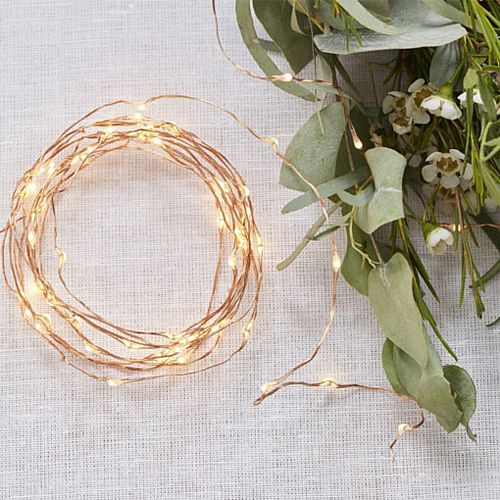 Beautiful Botanics Copper String Fairy Lights - 3m