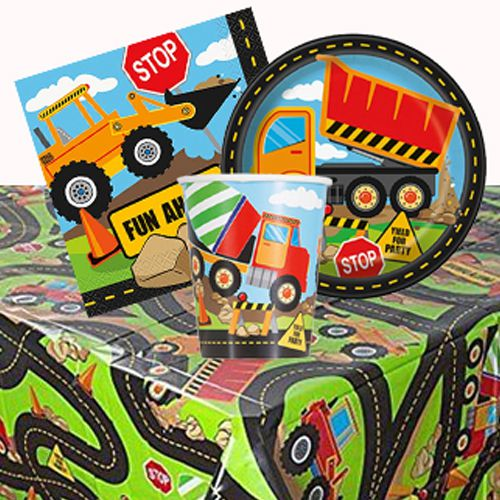 Trucks And Diggers Party Pack For 8