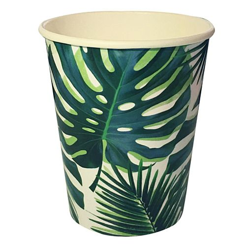 Tropical Fiesta Palm Leaf Cups - 256ml - Pack of 8