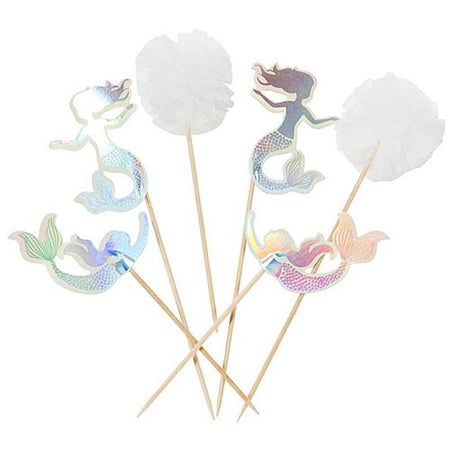 We Love Mermaids Cake Toppers - Pack of 12