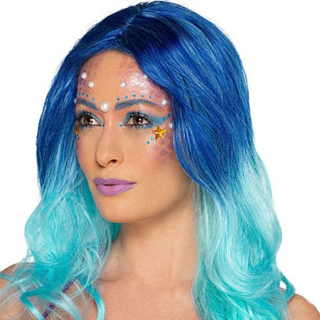 Mermaid Face Paint Kit With Gems