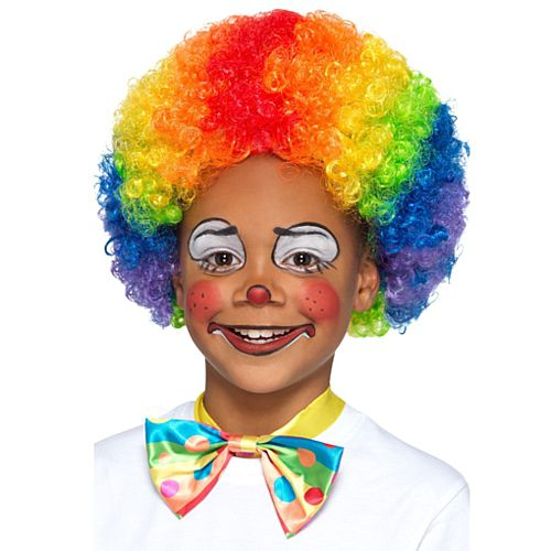 Children's Multi Colour Clown Wig