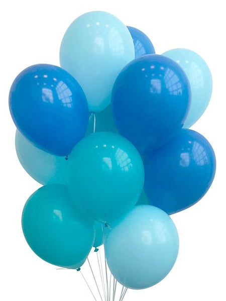 Blue Balloon Mix - Pack Of 30