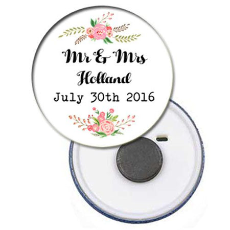 Click to view product details and reviews for Personalised Magnet Boho Flowers 58mm.