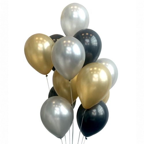 Luxe Metallic Balloon Mix - Pack Of 24