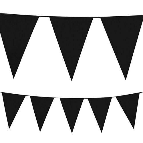 Black Plastic All-Weather Bunting - 10m