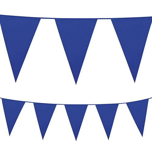 Blue Plastic All-Weather Bunting - 10m