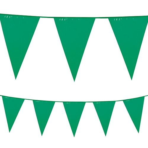 Green Plastic All-Weather Bunting - 10m