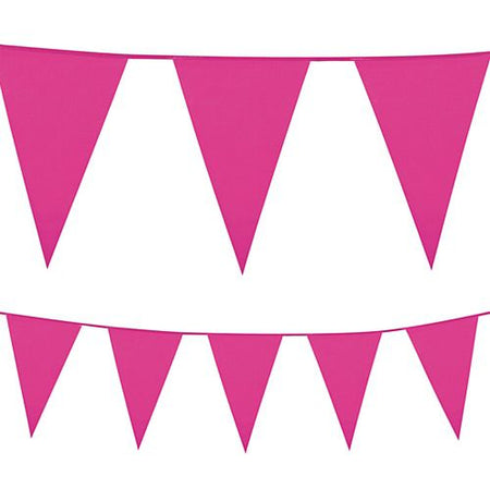 Hot Pink Plastic All-Weather Bunting - 10m